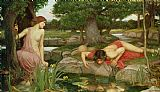 John William Waterhouse Echo and Narcissus Print