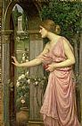 John William Waterhouse Psyche entering Cupid's Garden Print