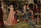 John William Waterhouse The Enchanted Garden Print