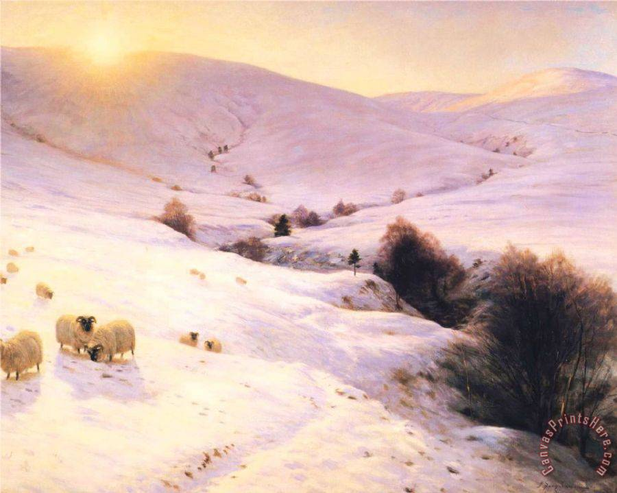 Joseph Farquharson And The Sun Peeped O'er Yon Southland Hills Art Print