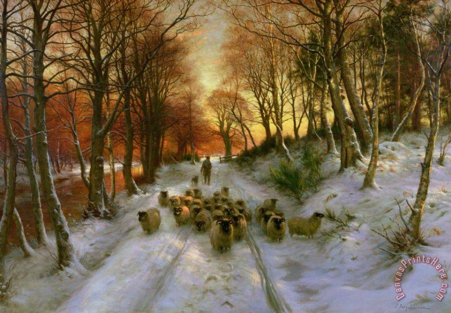 Joseph Farquharson Glowed with Tints of Evening Hours Art Print