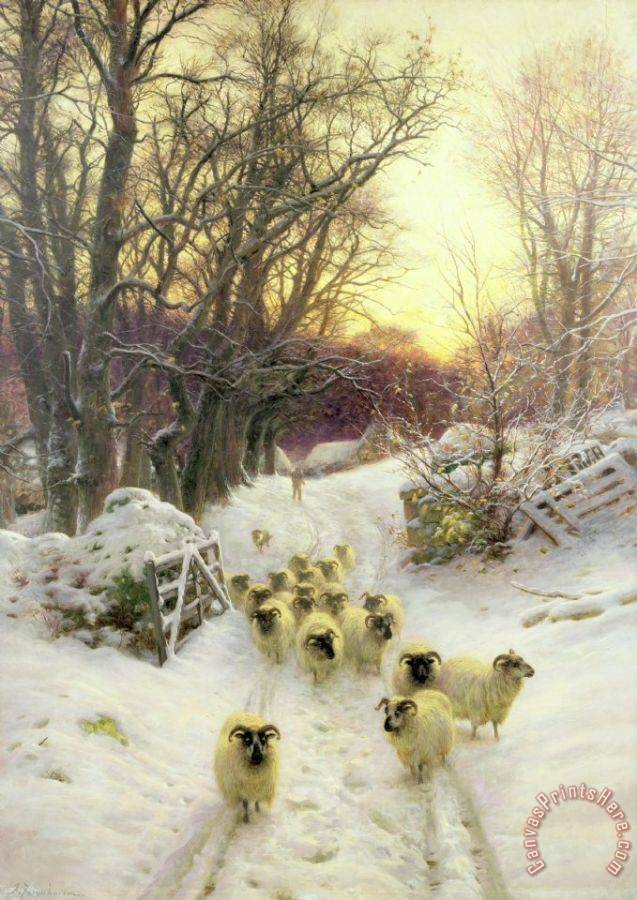Joseph Farquharson The Sun Had Closed the Winter's Day Art Print