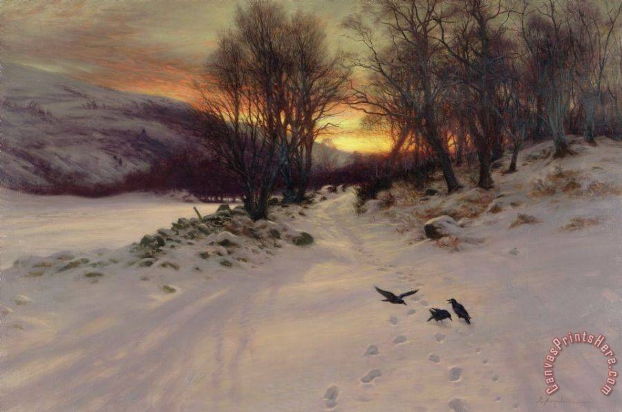 Joseph Farquharson When The West With Evening Glows Art