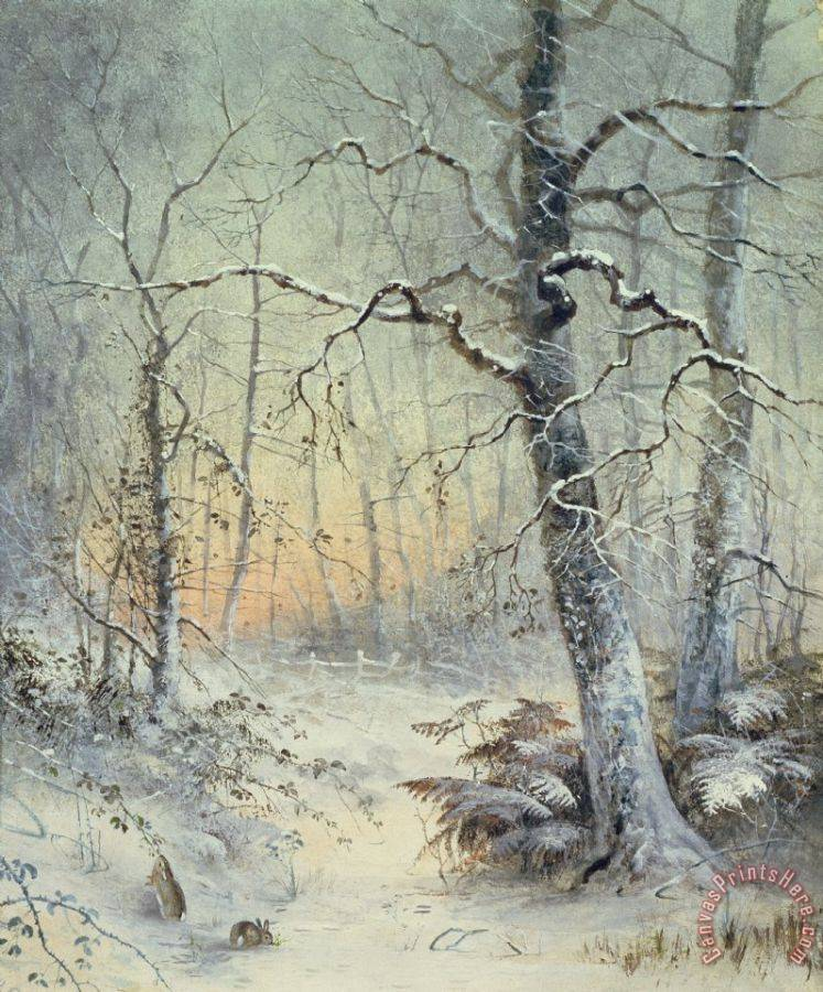 Joseph Farquharson Winter Breakfast Art Print