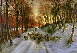 Joseph Farquharson Glowed with Tints of Evening Hours Print