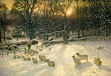 Joseph Farquharson The Shortening Winters Day is Near a Close Print
