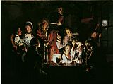 Joseph Wright of Derby An Experiment on a Bird in the Air Pump Print