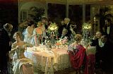 Jules Alexandre Grun The End of Dinner Print