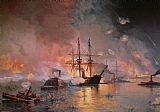 Julian Oliver Davidson Capture of New Orleans by Union Flag Officer David G Farragut Print