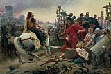 Lionel Noel Royer Vercingetorix throws down his arms at the feet of Julius Caesar Print