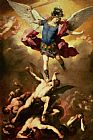 Luca Giordano Archangel Michael overthrows the rebel angel Print