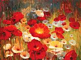 Lucas Santini Meadow Poppies I Print