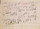 Ludwig van Beethoven Score sheet of Moonlight Sonata Print