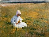 Marianne Stokes In a Field of Buttercups Print