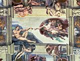 Michelangelo Sistine Chapel Ceiling Creation of Adam Print