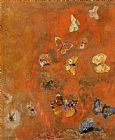 Odilon Redon Evocation of Butterflies Print