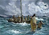 Christ walking on the Sea of Galilee by Others