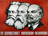 Others Poster depicting Karl Marx Friedrich Engels and Lenin Print