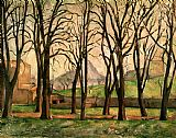 Paul Cezanne Chestnut trees at the Jas de Bouffan Print