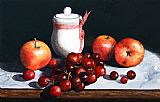 Paul Dene Marlor Still Life 'Preserve Pot and Fruit' Print