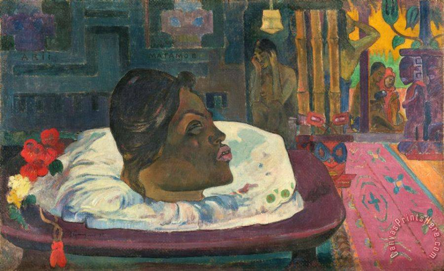Paul Gauguin Arii Matamoe (the Royal End) Art Print