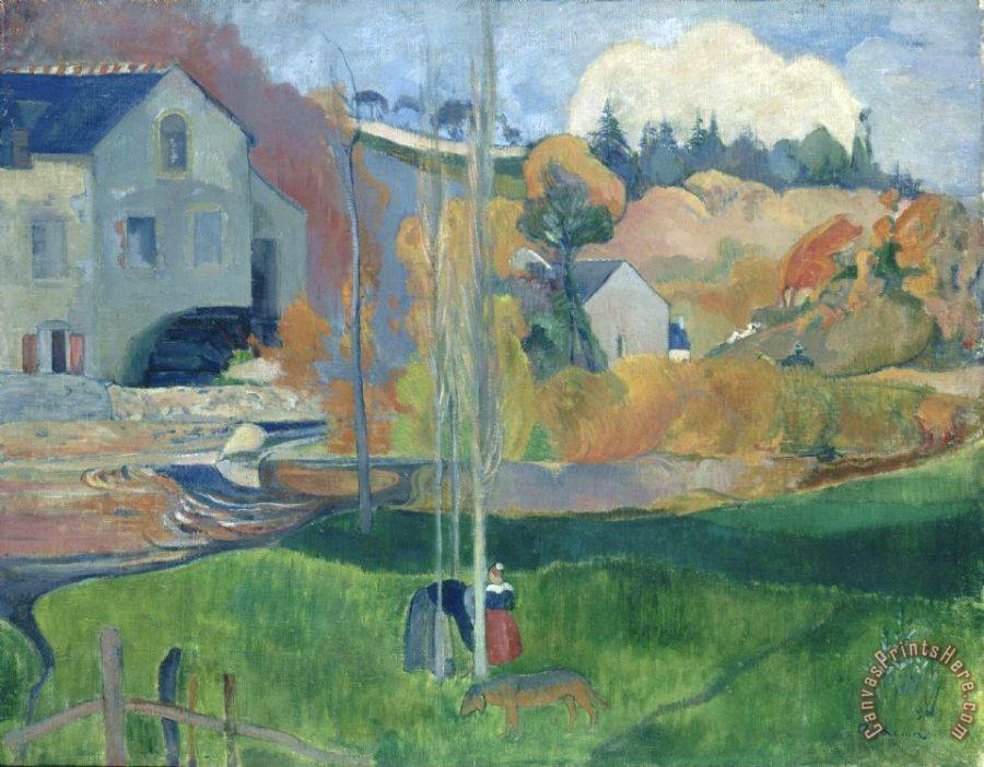Paul Gauguin Landscape in Brittany. The David Mill Art Print