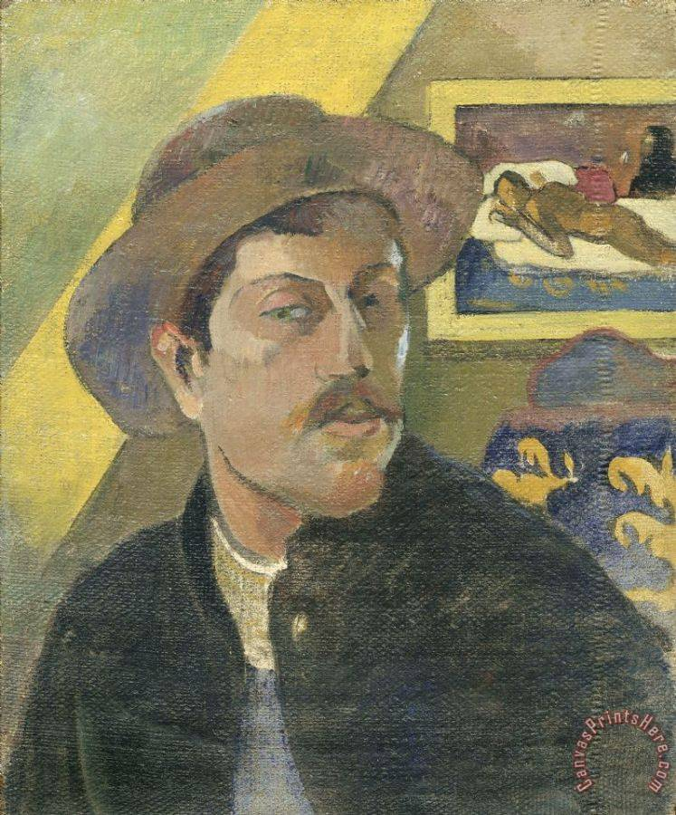 Paul Gauguin Self Portrait with a Hat Art Print
