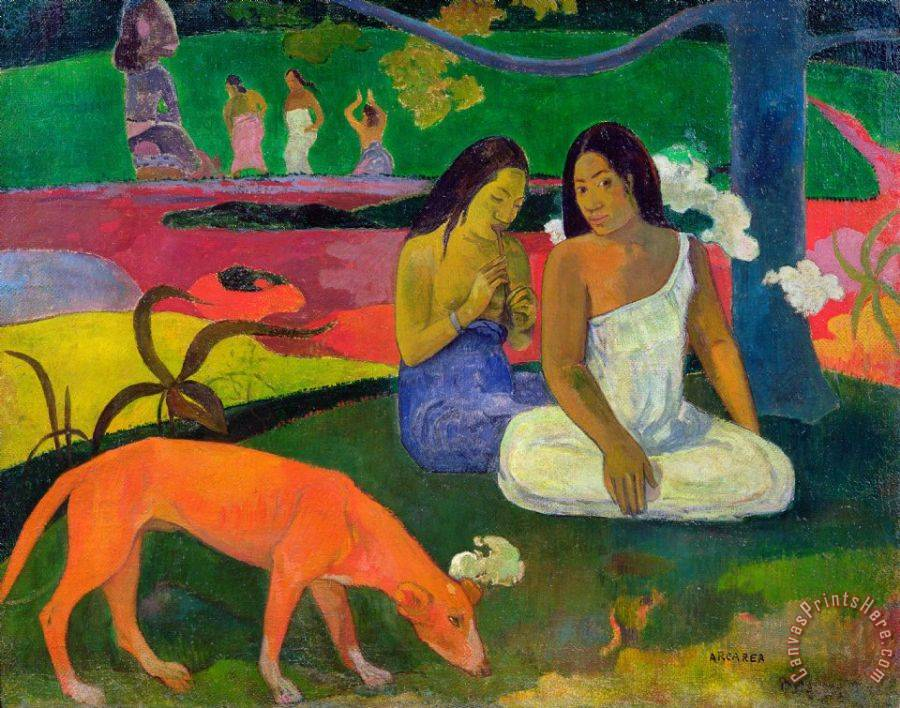 Paul Gauguin The Red Dog Art Print
