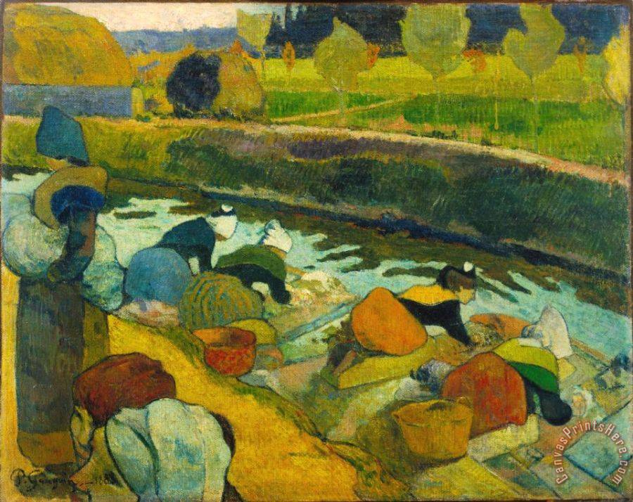 Paul Gauguin Washerwomen Art Print