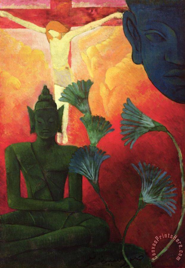 Paul Ranson Christ and Buddha Art Print