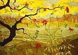 Paul Ranson Apple Tree with Red Fruit Print