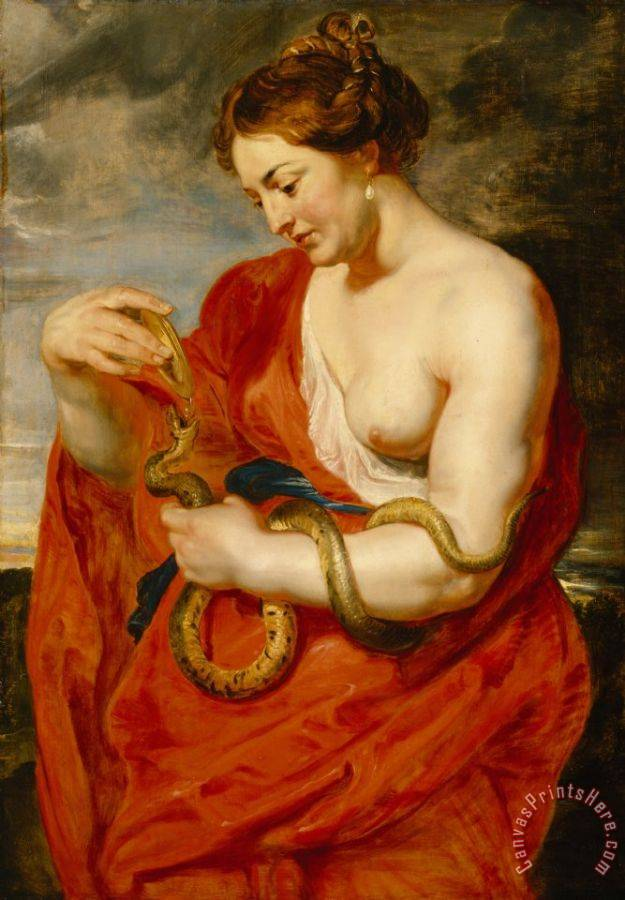 Peter Paul Rubens Hygeia - Goddess of Health Art Print
