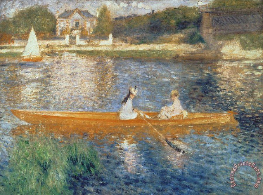 Pierre Auguste Renoir Boating on the Seine Art Print