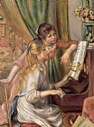 Pierre Auguste Renoir Young Girls at the Piano Print