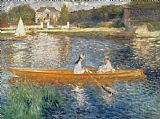 Pierre Auguste Renoir Boating on the Seine Print