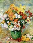 Pierre Auguste Renoir Bouquet of Chrysanthemums Print