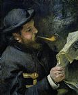 Pierre Auguste Renoir Claude Monet reading a newspaper Print