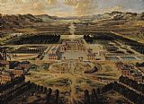 Perspective view of the Chateau Gardens and Park of Versailles by Pierre Patel