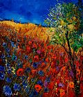 Pol Ledent Summer landscape with poppies Print