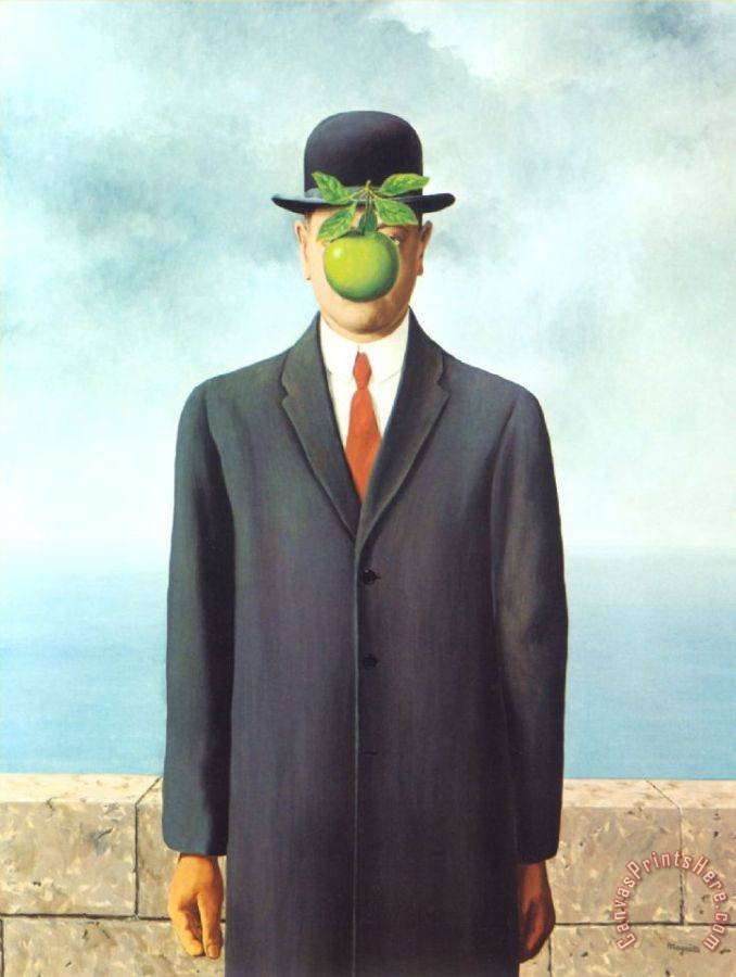 rene magritte Son of Man 1964 Art Print