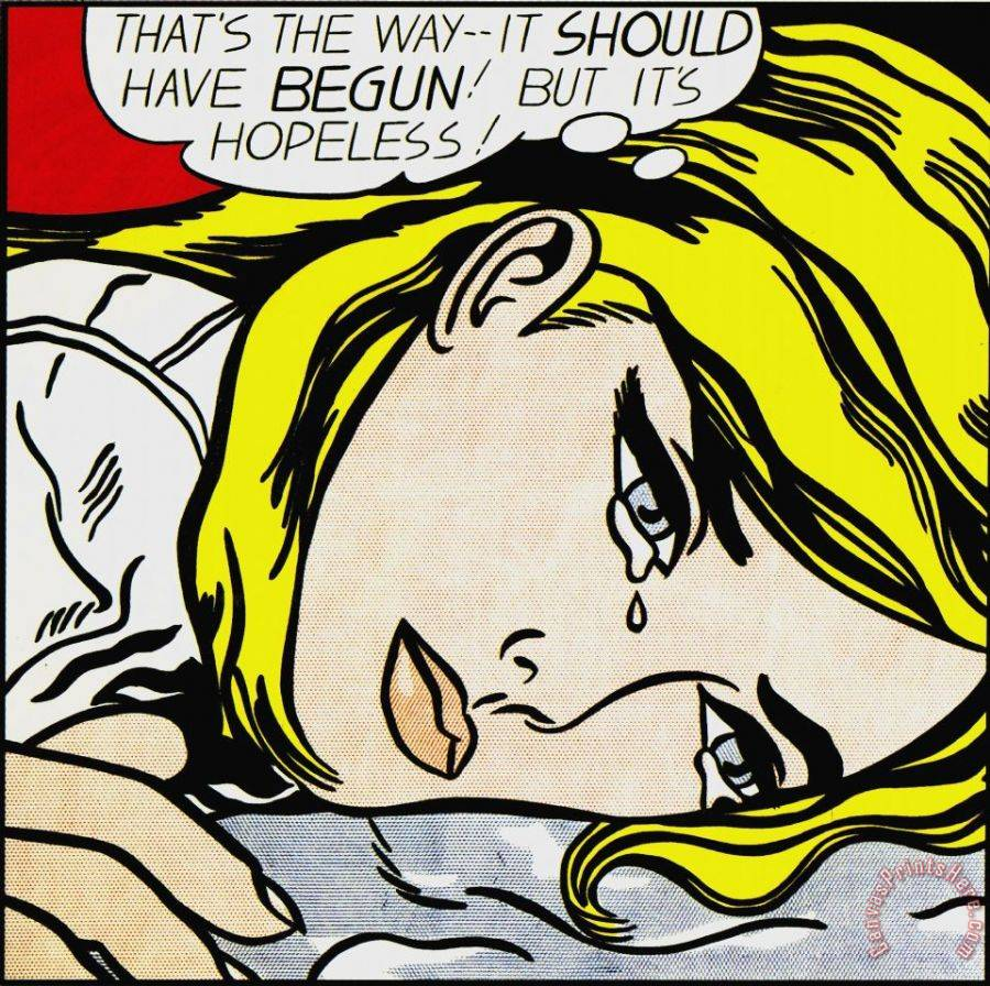 Roy Lichtenstein Hopeless Art Print