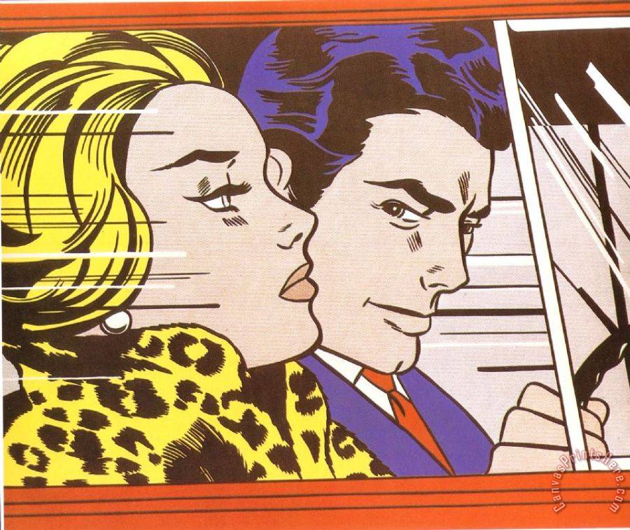 Roy Lichtenstein In The Car 1963 Art Print