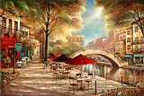 Ruane Manning Riverwalk Cafe Print