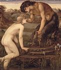 Sir Edward Burne-Jones Pan and Psyche Print