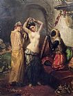 Theodore Chasseriau The Toilet in the Seraglio Print