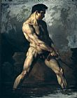 Theodore Gericault Study of a Male Nude Print