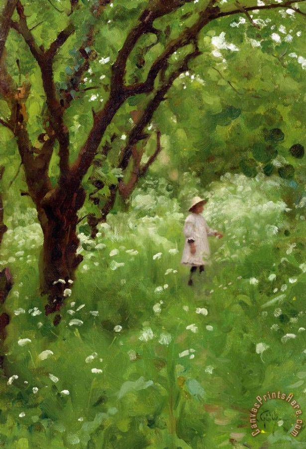 Thomas Cooper Gotch The Orchard Art Print