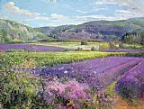 Lavender Fields in Old Provence by Timothy Easton