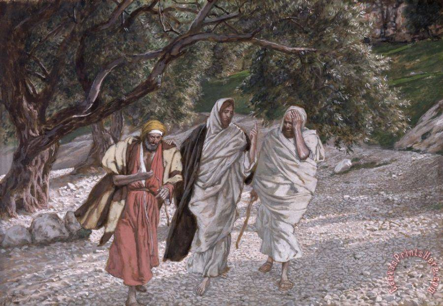 Tissot The Disciples on the Road to Emmaus Art Print