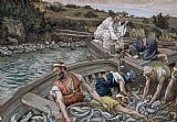 Tissot The First Miraculous Draught of Fish Print